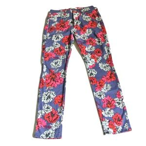 Jen7 7 for All Mankind Skinny jeans floral print 6